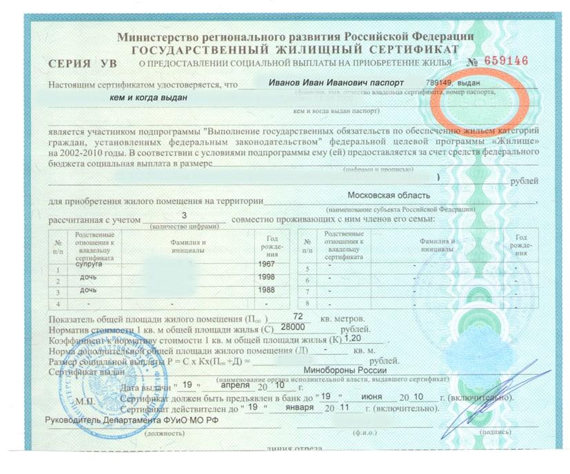 жилищные сертификаты закон